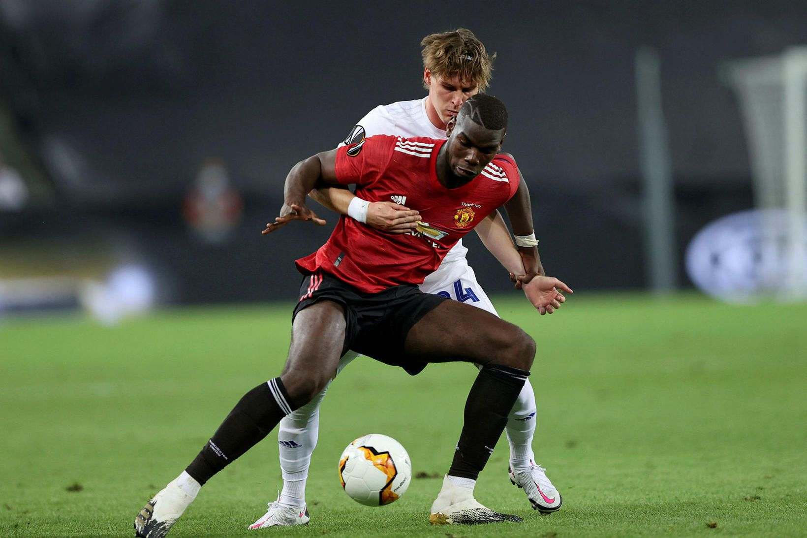 Paul Pogba í leik Manchester United gegn FC Köbenhavn í …
