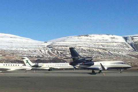 From Akureyri Airport.
