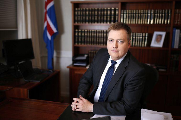 Prime Minister Sigmundur Davíð Gunnlaugsson.