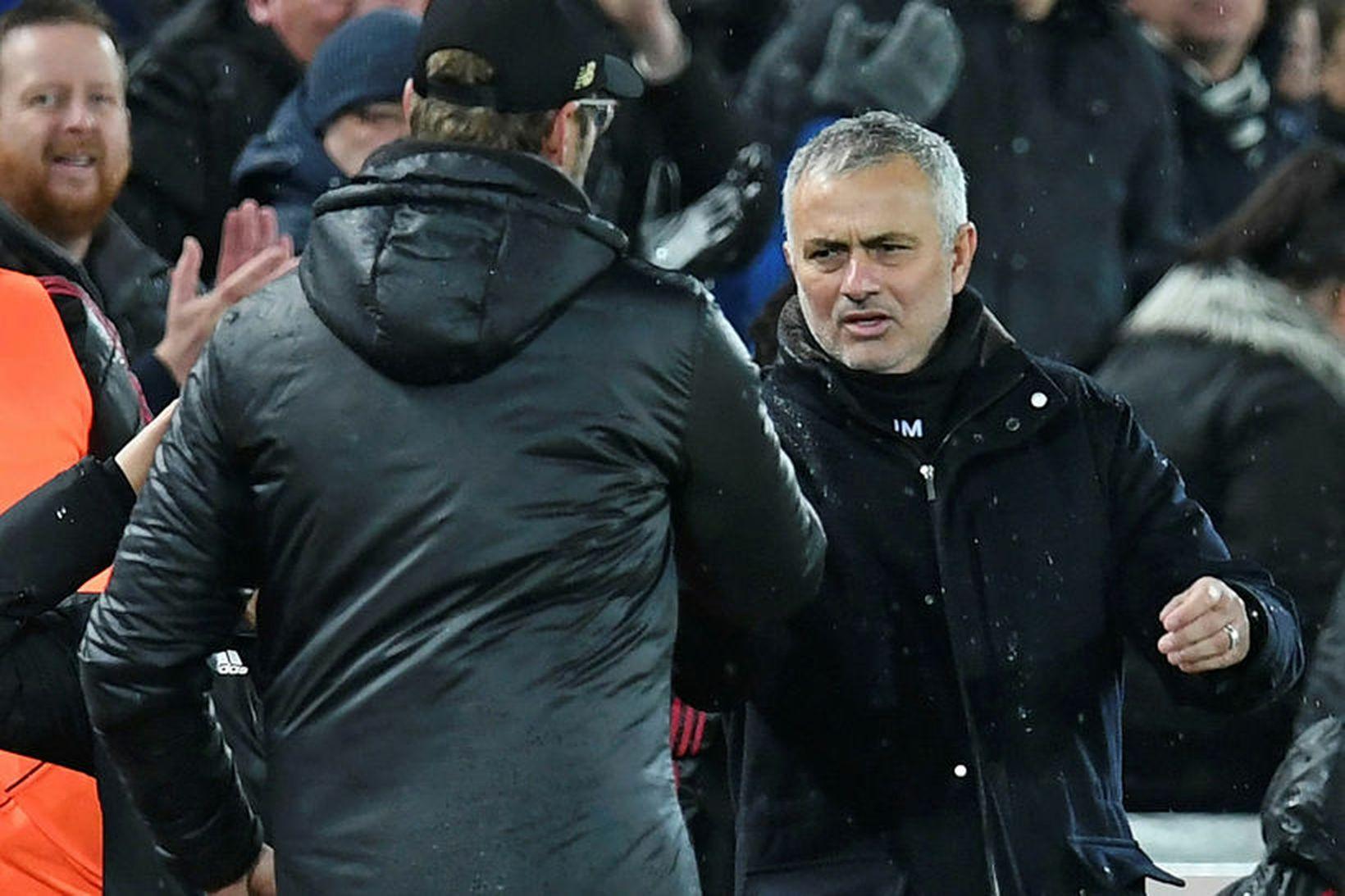 Jürgen Klopp og José Mourinho ræddu málefni Manchester City á …