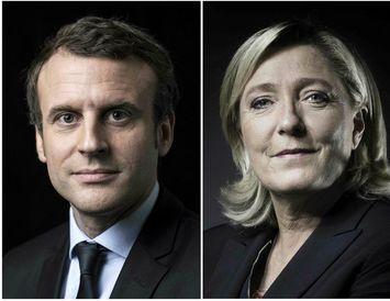 Macron og Le Pen eru sigurvegarar fyrri umferðar frönsku forsetakosninganna skv. útgönguspám.