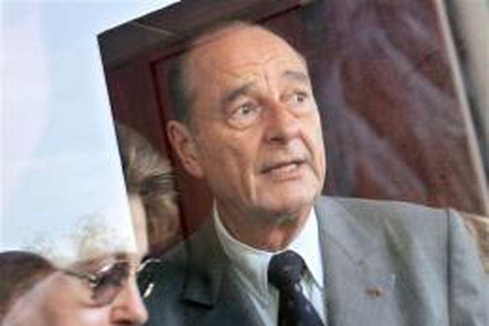Jacques Chirac, forseti Frakklands.