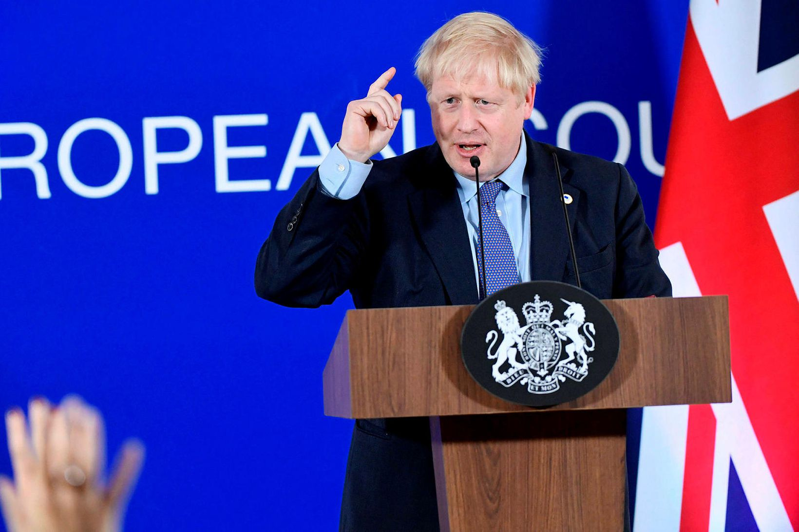 Forsætisráðherra Bretlands, Boris Johnson, er vongóður um að breska þingið …