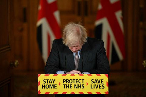 Boris Johnson forsætisráðherra segist sorgmæddur yfir fréttum dagsins.