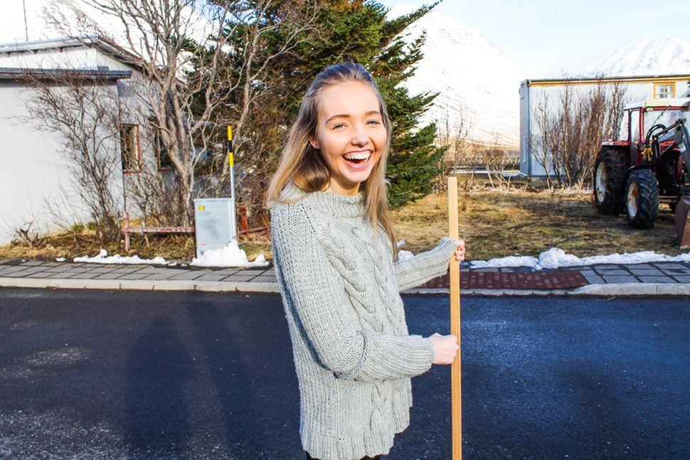Katrín Björk Guðjónsdóttir, 24 ára, var valin Vestfirðingur ársins 2016.