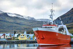 Gullver NS landaði um 112 tonnum á Seyðisfirði í gær og hélt um leið til …