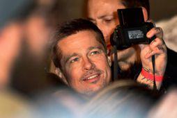 Brad Pitt í Madrid í gærkvöldi.
