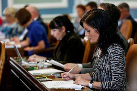 Icelandic MPs at work.