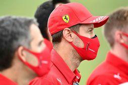 Sebastian Vettel með liðsfélögum sínum.