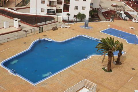 Þessi ljósmynd var tekin á Tenerife á sunnudaginn.
