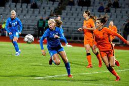 Amanda Andradóttir kemur inn í byrjunarliðið.