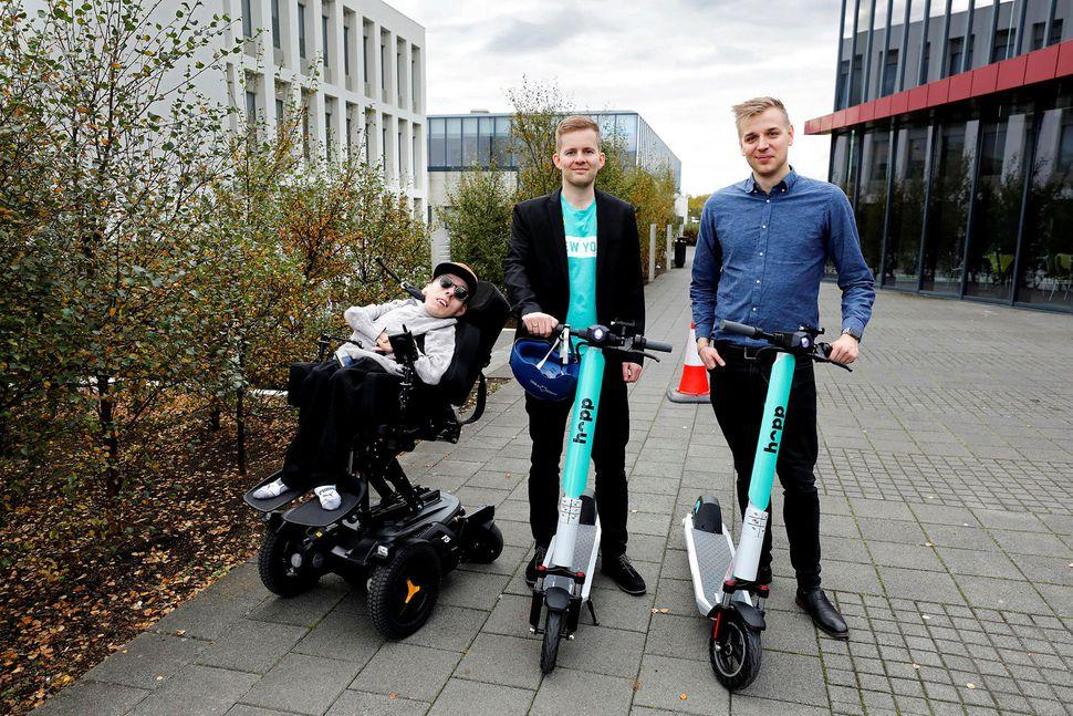 Ragnar Þór Valgeirsson, Ægir Þorsteinsson og Eiríkur Nilsson, stofnendur Hopps ...
