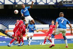 Dominic Calvert-Lewin tryggði Everton jafntefli gegn Liverpool.