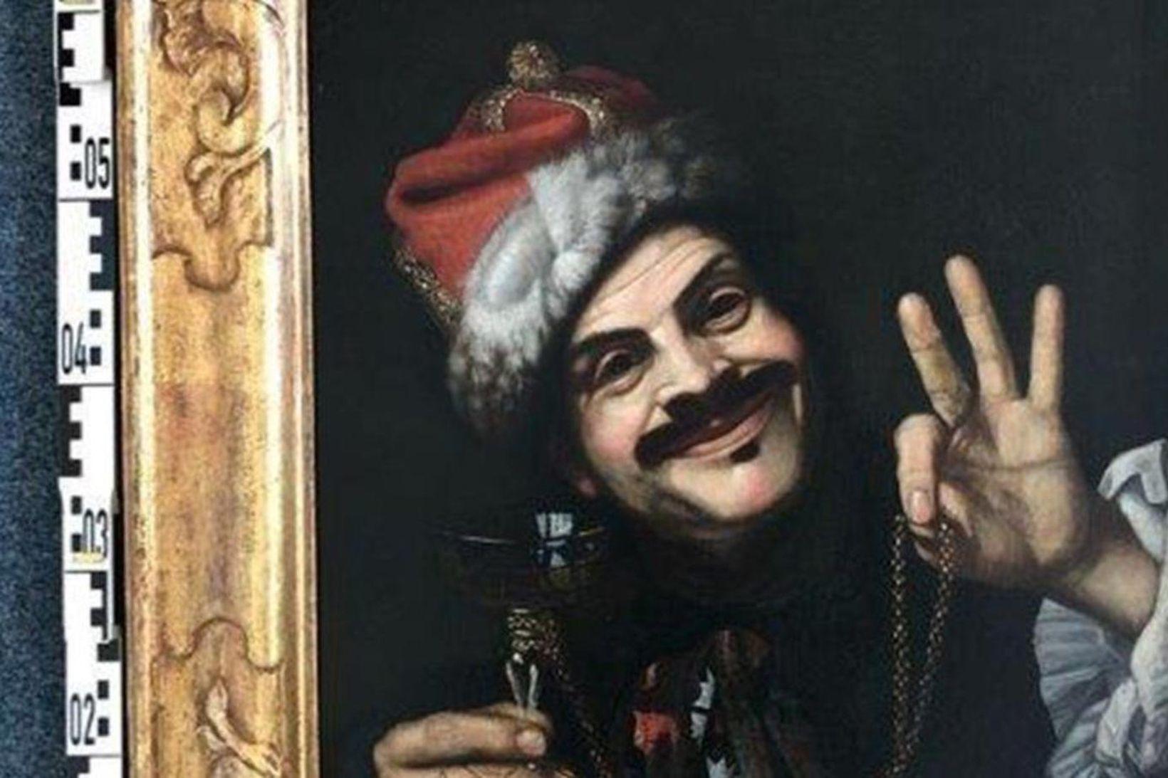 Annað verkanna er sjálfsmynd málarans Pietro Bellotti.