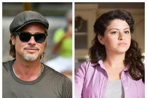 Brad Pitt og Alia Shawkat eru bara vinir.