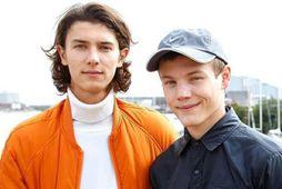 Bræðurnir Nikolai prins og Felix prins (t.h.).