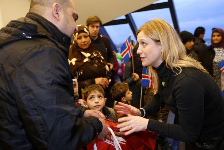 Flóttafólkið komið til Íslands
