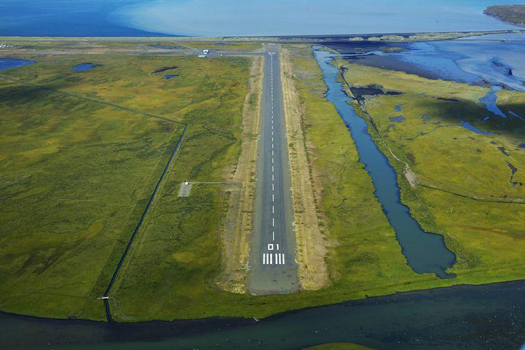 Alexandersflugvöllur airport in Sauðárkrókur.