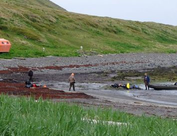 Mynd sem Rúnar tók þegar hann kom að mönnunum í Hornvík í fyrra. Strandferðir höfðu ...