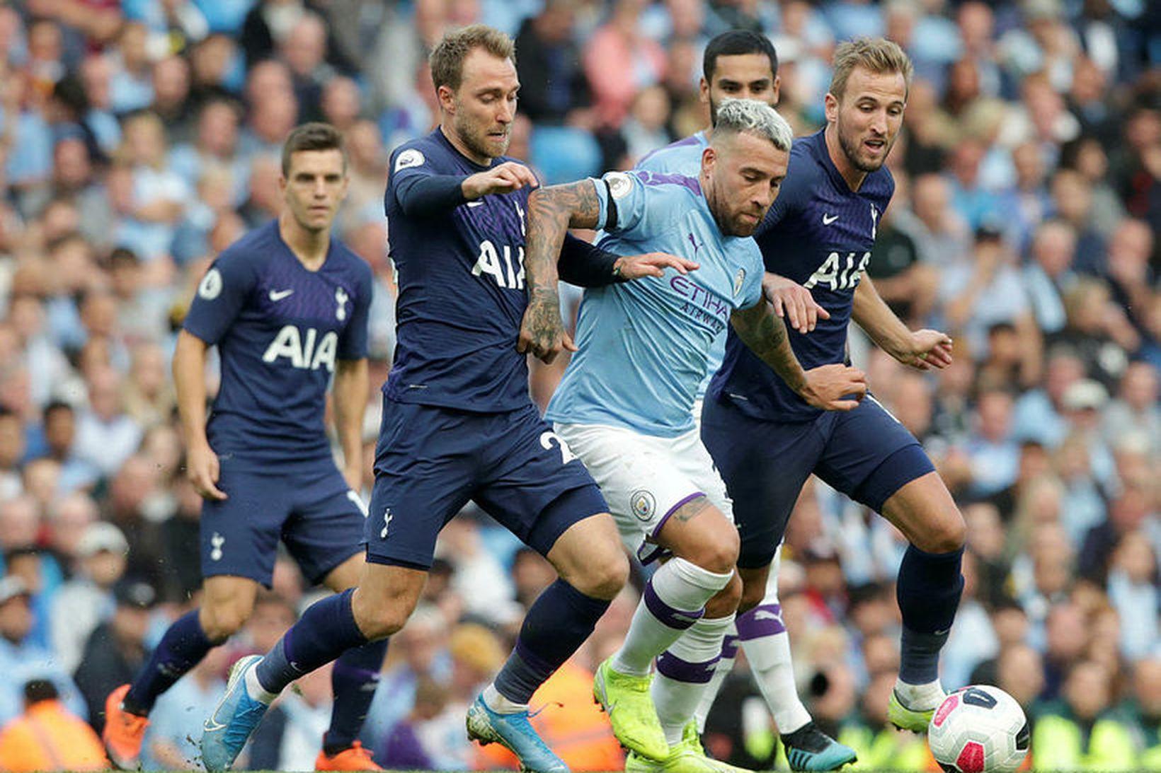 Tottenham og Manchester City eru í eldlínunni í dag.