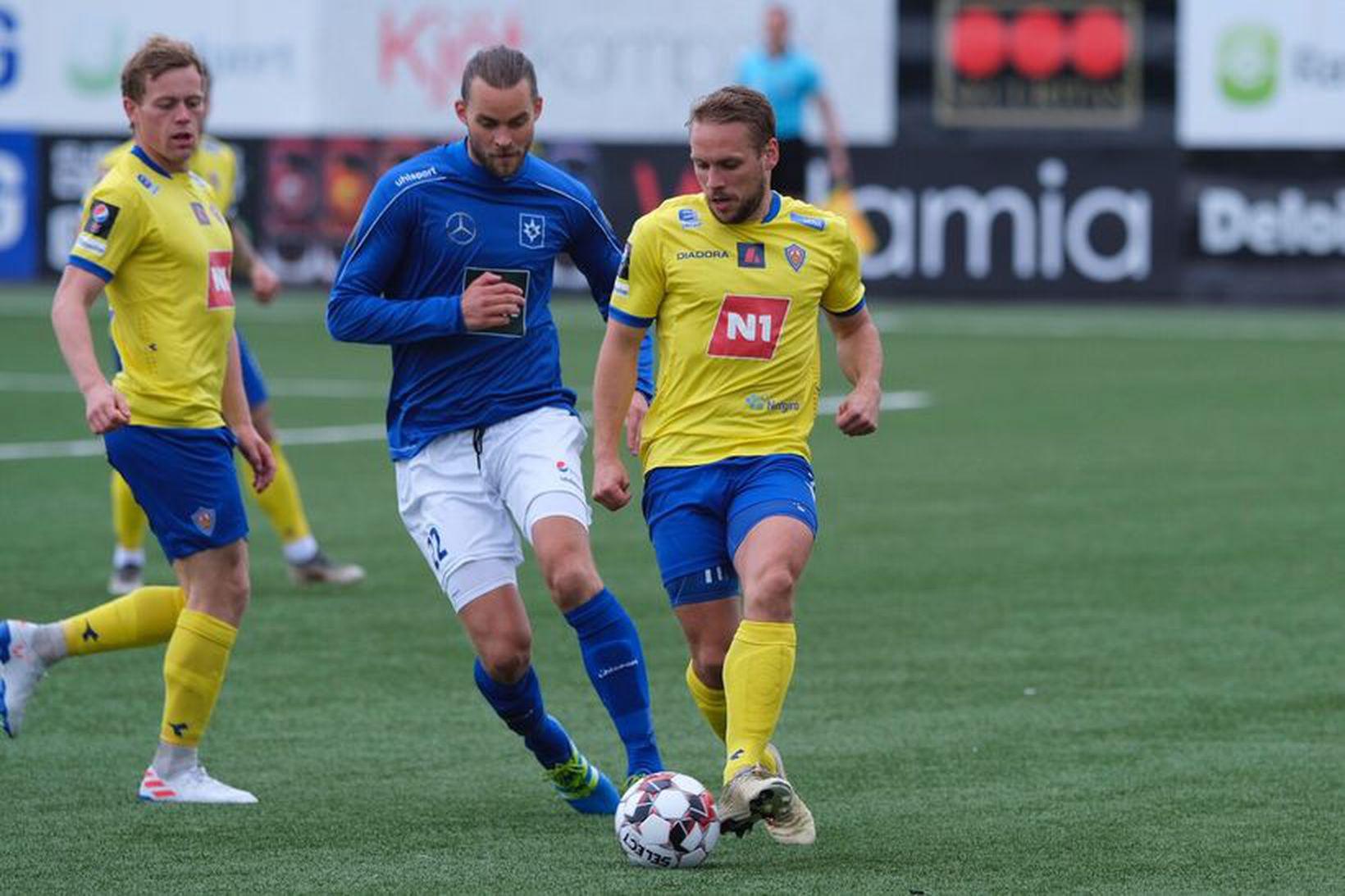 KA fagnaði 2:0-sigri gegn Stjörnunni í Garðabæ í kvöld.