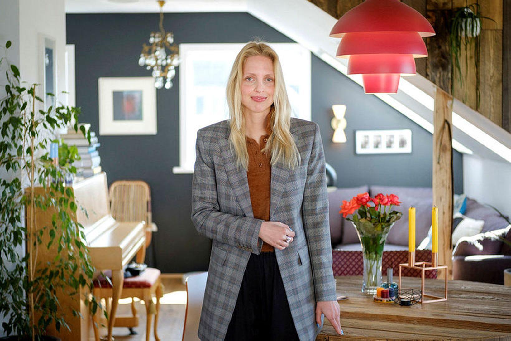 Tinna Bergmann fann ástina og flutti til Íslands.