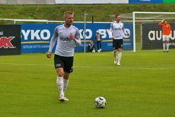 Pétur Viðarsson var í stóru hlutverki hjá FH í dag.