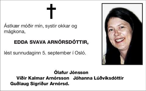 Edda Svava Arnórsdóttir,