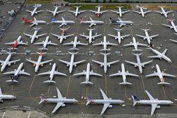 737 MAX-flugvélar hafa verið kyrrsettar úti um allan heim síðan í mars.