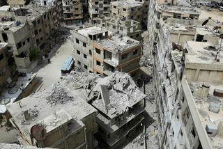 Frá bænum Douma í Sýrlandi.