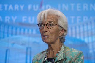 """Christine Lagarde, forstjóri Alþjóðagjaldeyrissjóðsins. AGS varar við að efnahagur Bretlands verði fyrir """"verulegum kostnaði"""" ákveði ..."""