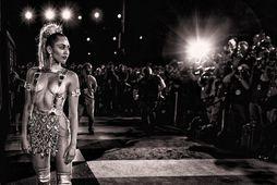 Miley Cyrus á VMA hátíðinni um síðustu helgi.