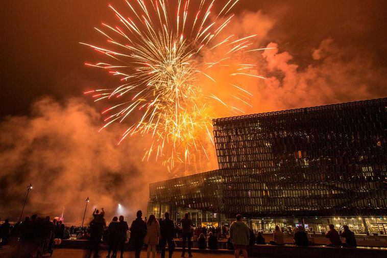 Make sure you don't miss the fireworks by Harpa on Saturday night.
