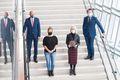 Verðlaun Guðni Th. Jóhannesson, forseti Íslands, Kristín Jóhannsdóttir, almannatengill Netparta, Aðalheiður Jacobsen, framkvæmdastjóri Netparta, og Halldór Benjamín Þorbergsson, framkvæmdastjóri SA.