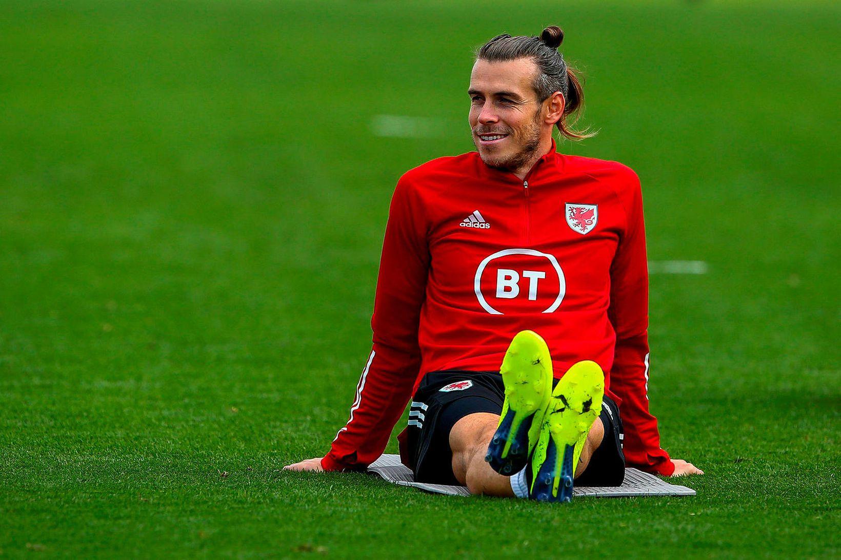 Gareth Bale á æfingu með velska landsliðinu fyrr í þessum …