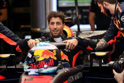 Daniel Ricciardo í bíl sínum á keppnishelginni í Melbourne.