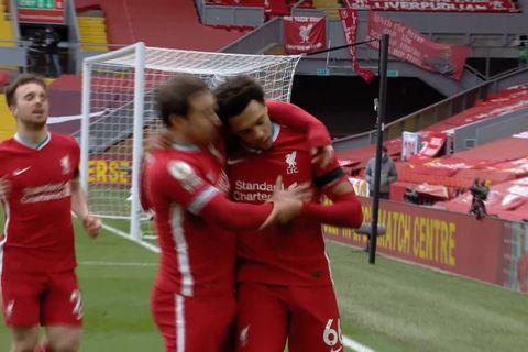 Mörkin: Liverpool vann loks á Anfield