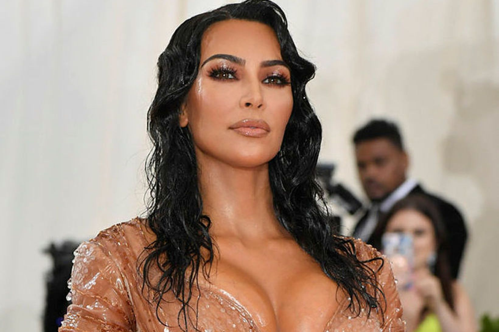 Kim Kardashian var líkt við hval.