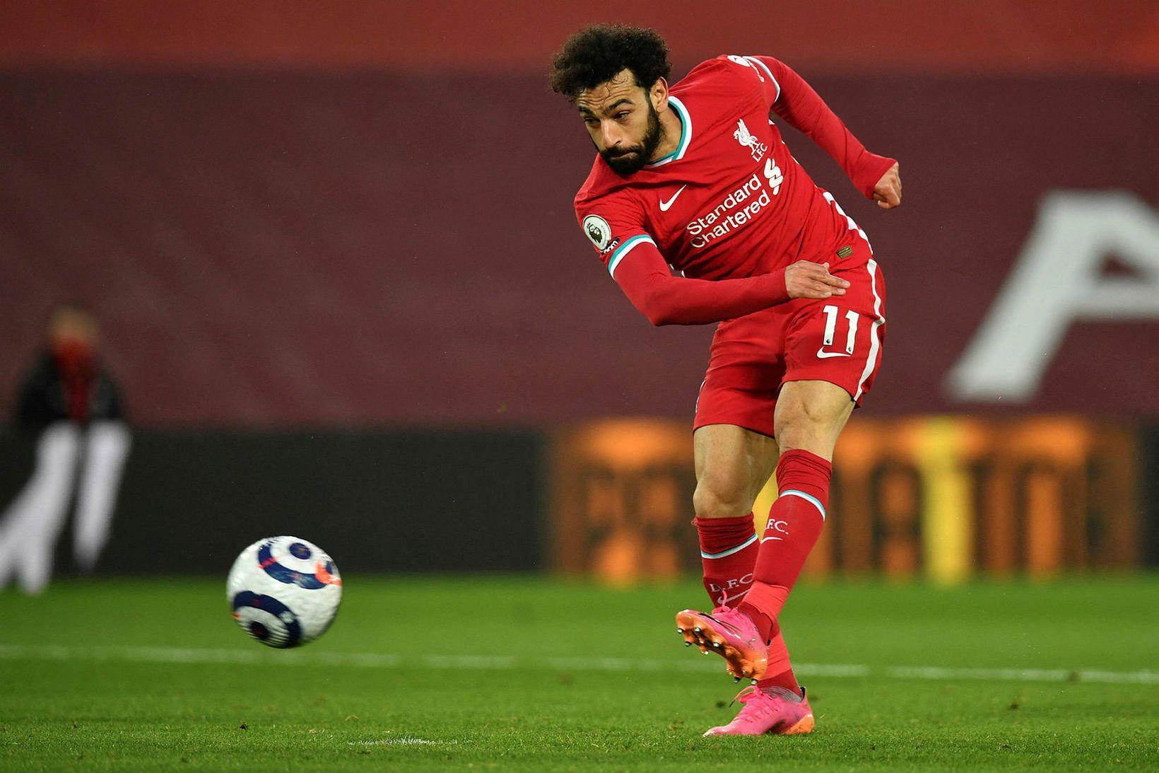 Mohamed Salah hefur skorað 123 mörk fyrir Liverpool frá árinu …
