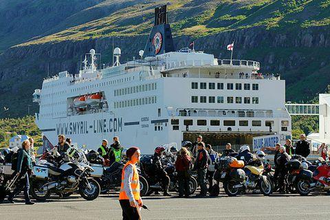 Norræna brings 1,200 passengers a week to Seyðisfjörður.