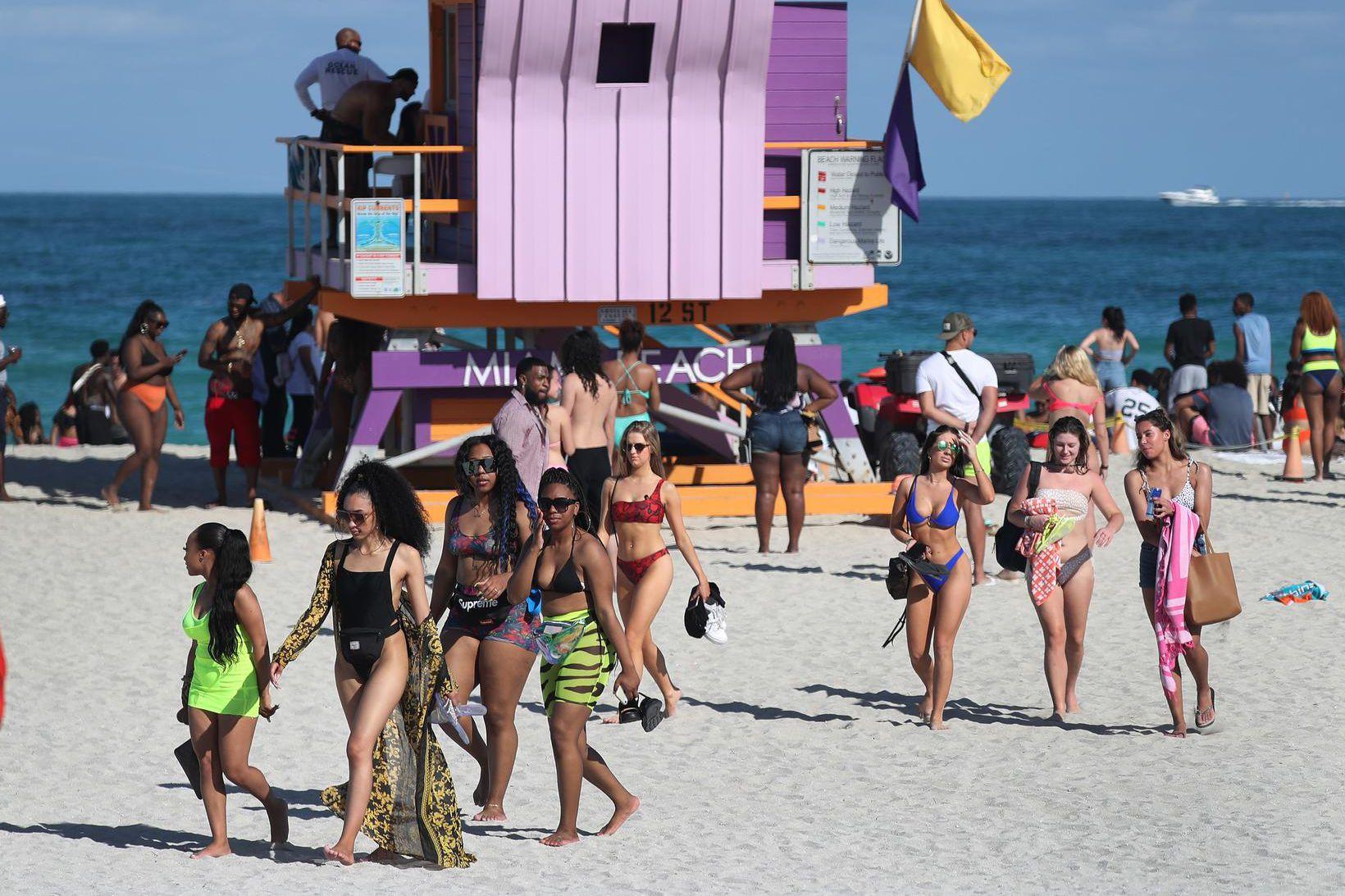 Þessi ljósmynd var tekin á Miami þann 15. mars síðastliðinn …