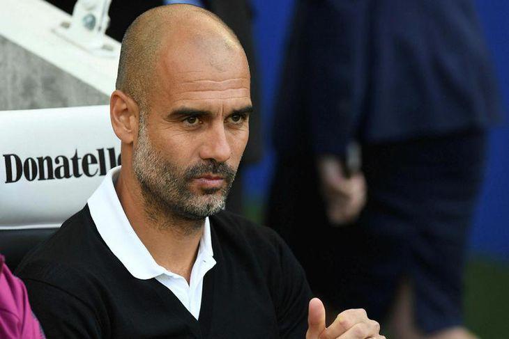 Pep Guardiola, knattspyrnustjóri Manchester City.