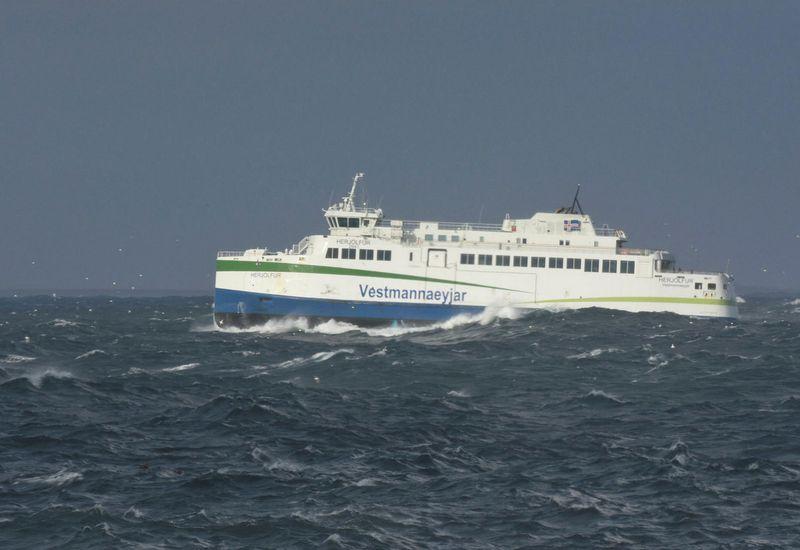The ferry Herjólfur.