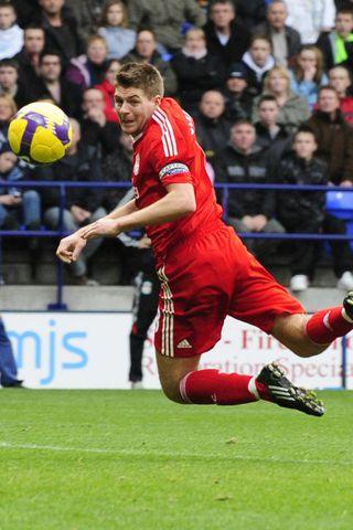Gerrard í leik með Liverpool.