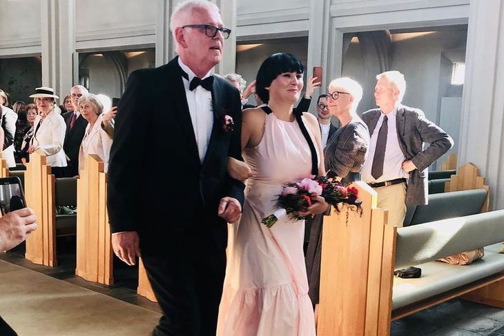 Bárður Sigurgeirsson og Linda Björg Árnadóttir gengu hjónaband í gær.
