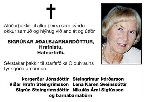 Sigrúnar Aðalbjarnardóttur,