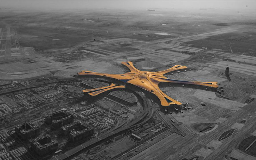 Beijing Daxing International-flugvöllurinn er engin smá smíði.