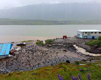 The mudslide hit two houses in Seyðisfjörður
