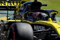 Daniel Ricciardo á ferð á Renaultinum.