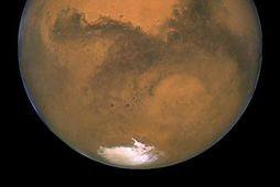 Mars. Myndin er tekin með Hubble geimsjónauka NASA.